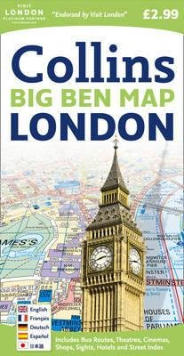 Big Ben London Map 9780007273843  Collins Plattegronden  Stadsplattegronden Londen