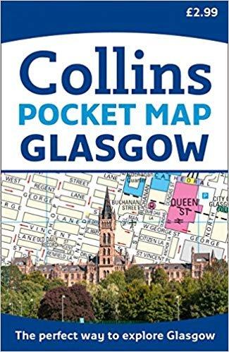 Glasgow Street Atlas Pocket Map 9780008285623  Collins   Stadsplattegronden Glasgow