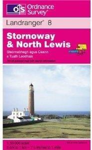 LR-008 Stornoway + North Lewis  NU HALVE PRIJS 9780319222867  Ordnance Survey Landranger Maps 1:50.000  Wandelkaarten Skye & the Western Isles