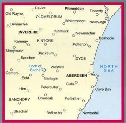 LR-038  Aberdeen, Inverurie, Pitmedden | topografische wandelkaart 9780319226384  Ordnance Survey Landranger Maps 1:50.000  Wandelkaarten de Schotse Hooglanden (ten noorden van Glasgow / Edinburgh)
