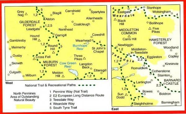 EXP-031  North Pennines (Teesdale + Weardale) | wandelkaart 1:25.000 9780319234662  Ordnance Survey Explorer Maps 1:25t.  Wandelkaarten Noord-Engeland