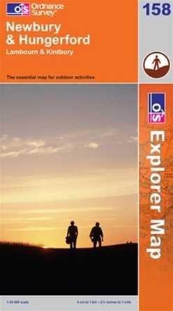 EXP-158 Newbury + Hungerford | wandelkaart 1:25.000 9780319236123  Ordnance Survey Explorer Maps 1:25t.  Wandelkaarten Midden- en Oost-Engeland