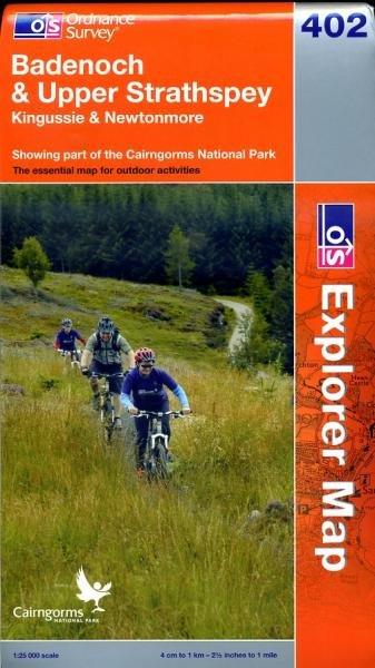 EXP-402  Badenoch, Upper Strathspey | wandelkaart 1:25.000 9780319239360  Ordnance Survey Explorer Maps 1:25t.  Wandelkaarten Schotland