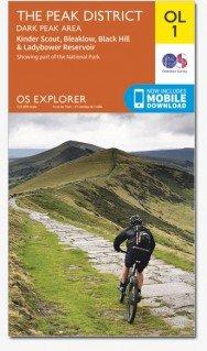 EXP-001  The Peak District - Dark Peak Area | wandelkaart 1:25.000 9780319242407  Ordnance Survey Explorer Maps 1:25t.  Wandelkaarten Midden- en Oost-Engeland