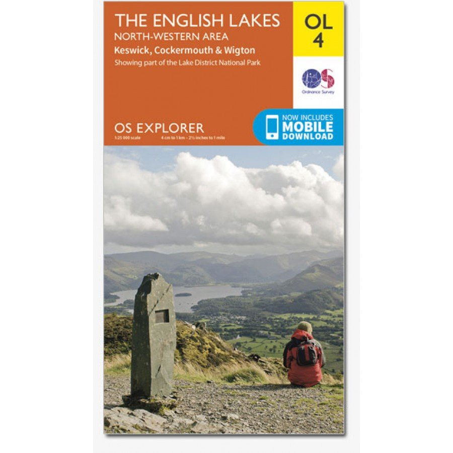 EXP-004  English Lakes - North West  OL4 | wandelkaart 1:25.000 9780319242438  Ordnance Survey Explorer Maps 1:25t.  Wandelkaarten Lake District