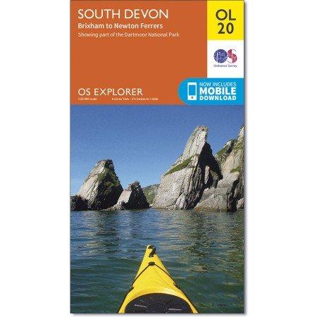 EXP-020  South Devon (OL20) | wandelkaart 1:25.000 9780319242599  Ordnance Survey Explorer Maps 1:25t.  Wandelkaarten Zuidwest-Engeland