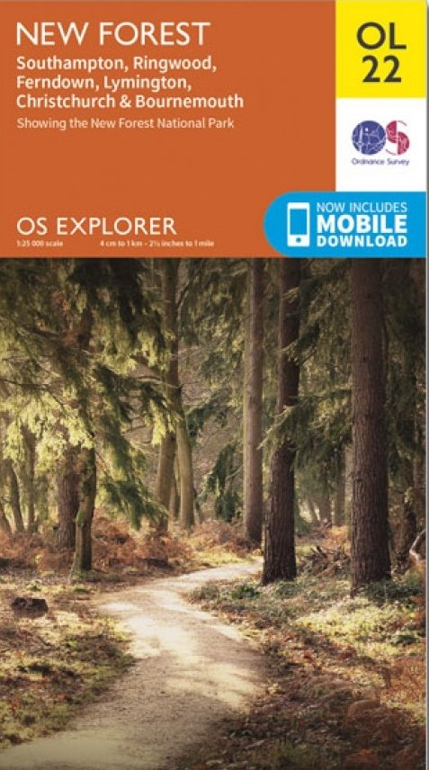 EXP-022  New Forest | wandelkaart 1:25.000 9780319242612  Ordnance Survey Explorer Maps 1:25t.  Wandelkaarten Zuidoost-Engeland