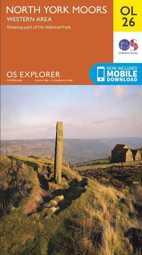 EXP-026  North York Moors - Western area OL26 | wandelkaart 1:25.000 9780319242650  Ordnance Survey Explorer Maps 1:25t.  Wandelkaarten Northumberland, Yorkshire Dales & Moors, Peak District, Isle of Man