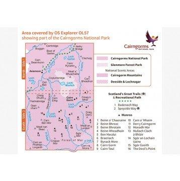 EXP-403 Cairn Gorm, Aviemore (OL-57)    wandelkaart 1:25.000 9780319242964  Ordnance Survey Explorer Maps 1:25t.  Wandelkaarten Schotland