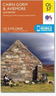 EXP-403 Cairn Gorm, Aviemore (OL-57)  | wandelkaart 1:25.000 9780319242964  Ordnance Survey Explorer Maps 1:25t.  Wandelkaarten Schotland