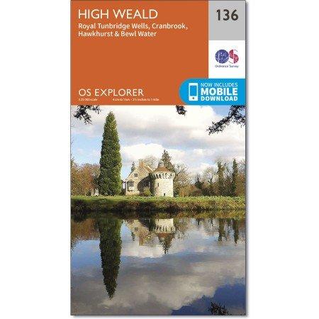 EXP-136  The Weald | wandelkaart 1:25.000 9780319243299  Ordnance Survey Explorer Maps 1:25t.  Wandelkaarten Zuidoost-Engeland