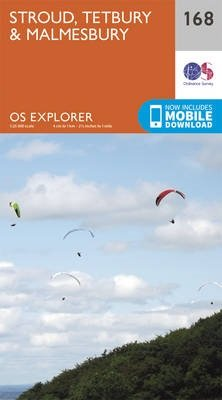 EXP-168 Stroud | wandelkaart 1:25.000 9780319243619  Ordnance Survey Explorer Maps 1:25t.  Wandelkaarten Zuidwest-Engeland