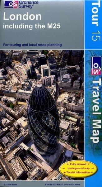 TMG 15  London + M25 1:100.000 9780319245125  Ordnance Survey   Landkaarten en wegenkaarten Londen