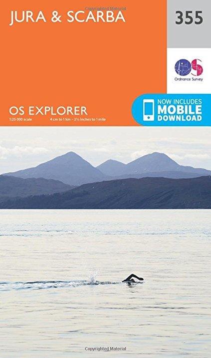 EXP-355 Jura, Scarba 1:25.000 9780319246061  Ordnance Survey Explorer Maps 1:25t.  Wandelkaarten Skye & the Western Isles