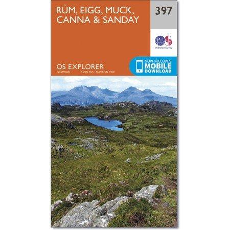 EXP-397  Rùm (Rum)   wandelkaart 1:25.000 9780319246375  Ordnance Survey Explorer Maps 1:25t.  Wandelkaarten Schotland