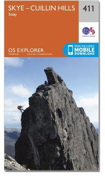 EXP-411 Skye, Cuillin Hills   wandelkaart 1:25.000 9780319246467  Ordnance Survey Explorer Maps 1:25t.  Wandelkaarten Schotland