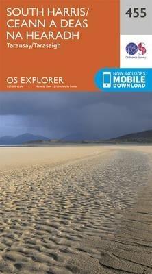 EXP-455  South Harris/ Ceann A Deas Na Hea | wandelkaart 1:25.000 9780319246986  Ordnance Survey Explorer Maps 1:25t.  Wandelkaarten Skye & the Western Isles