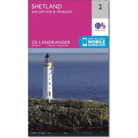 LR-002  Shetland - Whalsay | topografische wandelkaart 9780319261002  Ordnance Survey Landranger Maps 1:50.000  Wandelkaarten Shetland & Orkney
