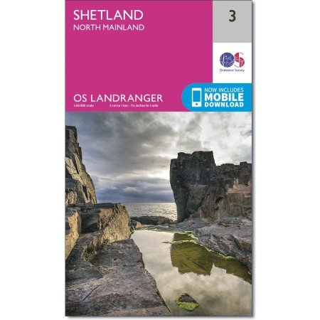 LR-003  Shetland - North Mainland | topografische wandelkaart 9780319261019  Ordnance Survey Landranger Maps 1:50.000  Wandelkaarten Shetland & Orkney