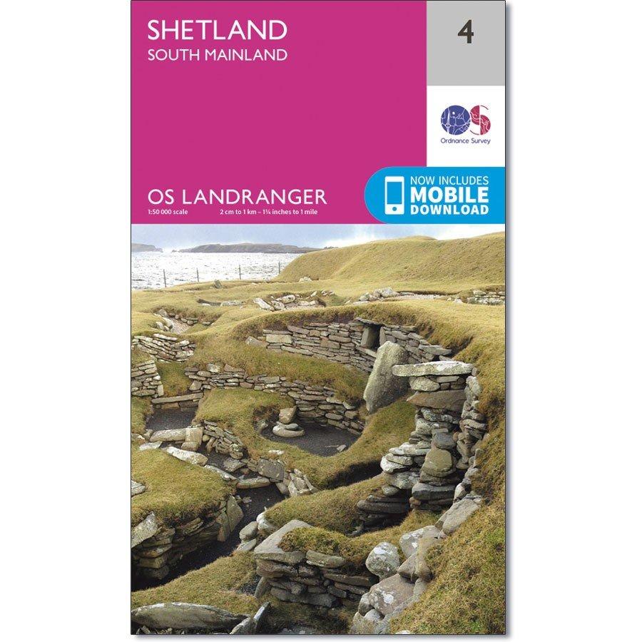 LR-004  Shetland - South Mainland | topografische wandelkaart 9780319261026  Ordnance Survey Landranger Maps 1:50.000  Wandelkaarten Shetland & Orkney