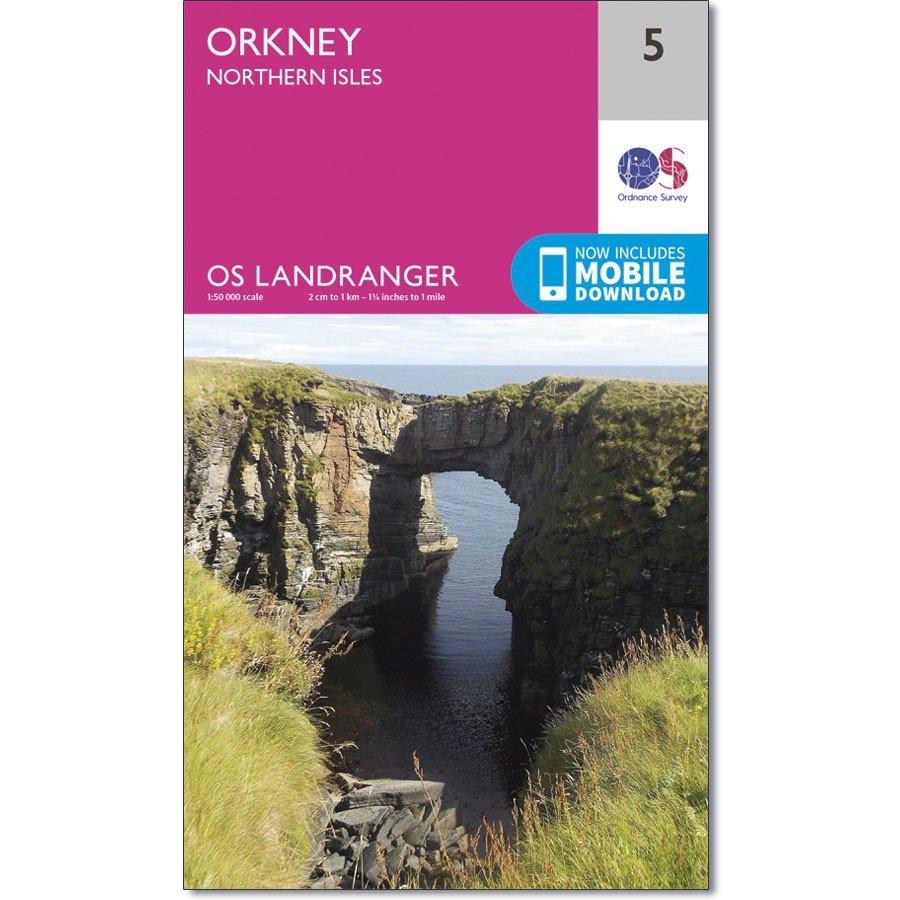 LR-005  Orkney - Northern Isles | topografische wandelkaart 9780319261033  Ordnance Survey Landranger Maps 1:50.000  Wandelkaarten Shetland & Orkney
