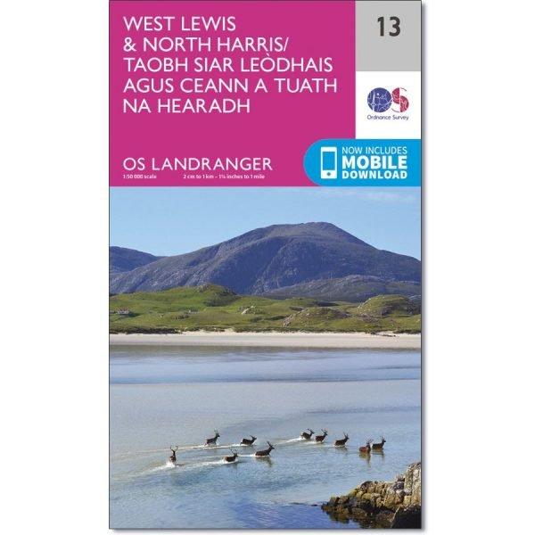 LR-013  West Lewis + North Harris | topografische wandelkaart 9780319261118  Ordnance Survey Landranger Maps 1:50.000  Wandelkaarten Skye & the Western Isles