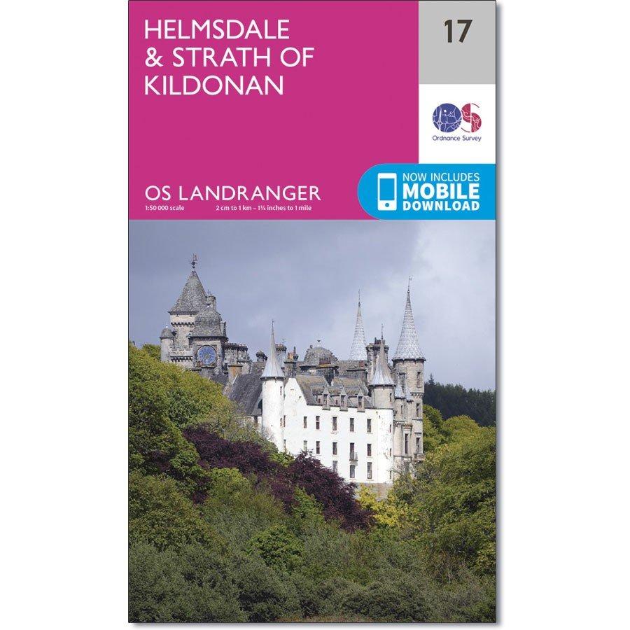 LR-017  Helmsdale + Strath of Kildonan   topografische wandelkaart 9780319261156  Ordnance Survey Landranger Maps 1:50.000  Wandelkaarten Schotland