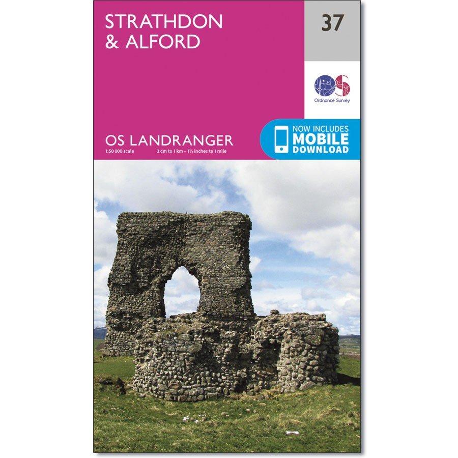 LR-037  Strathdon, Alford | topografische wandelkaart 9780319261354  Ordnance Survey Landranger Maps 1:50.000  Wandelkaarten Schotland