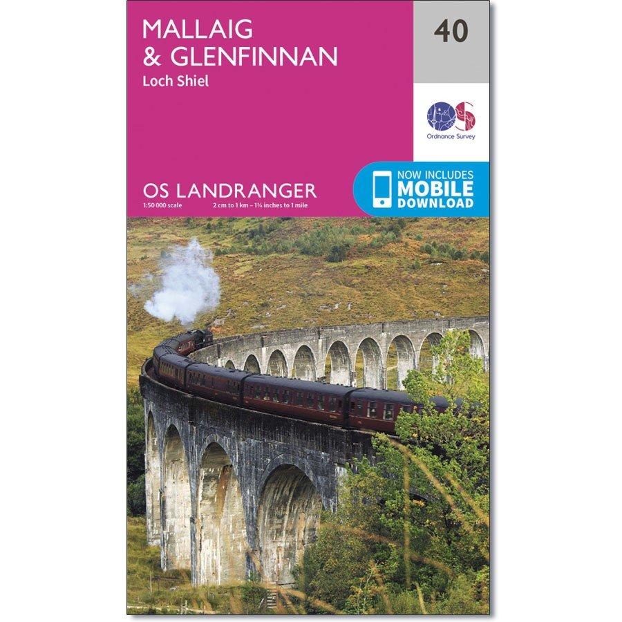 LR-040  Mallaig + Glenfinnan, Loch Shiel | topografische wandelkaart 9780319261385  Ordnance Survey Landranger Maps 1:50.000  Wandelkaarten Schotland
