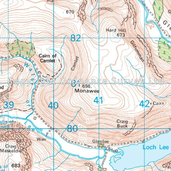 LR-044  Ballater, Glen Clova   topografische wandelkaart 9780319261422  Ordnance Survey Landranger Maps 1:50.000  Wandelkaarten Schotland