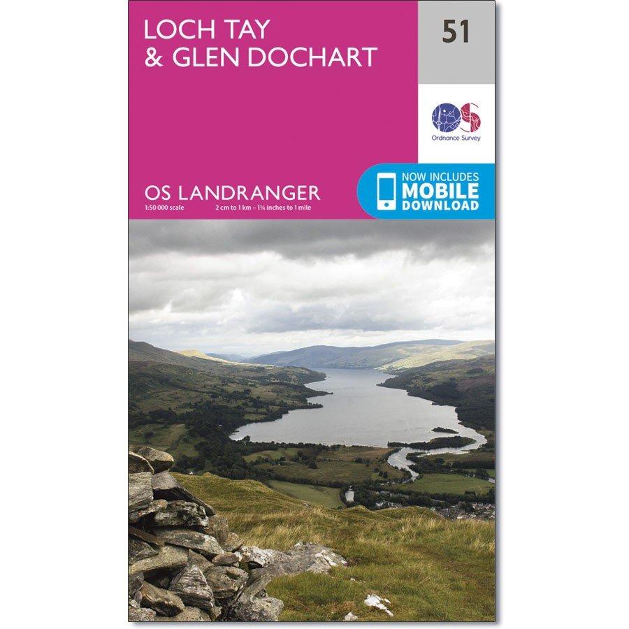 LR-051  Loch Tay | topografische wandelkaart 9780319261491  Ordnance Survey Landranger Maps 1:50.000  Wandelkaarten de Schotse Hooglanden (ten noorden van Glasgow / Edinburgh)