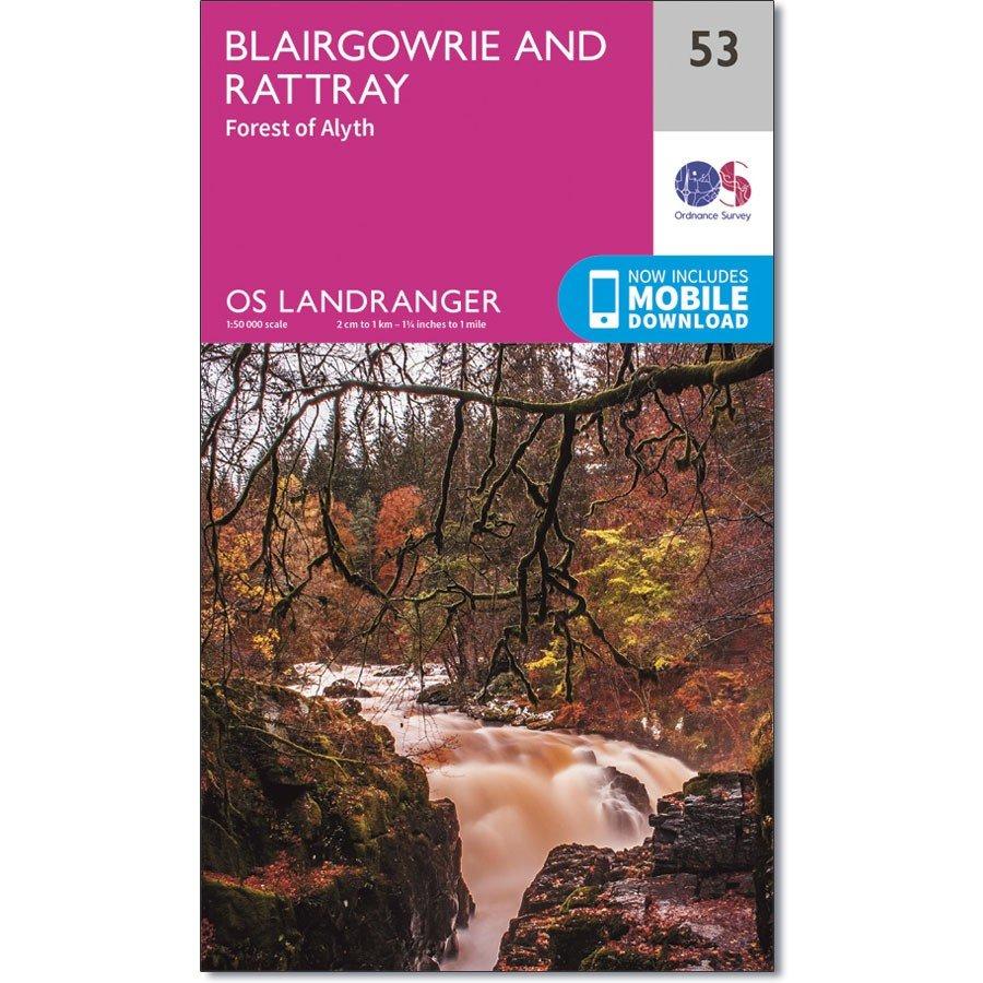 LR-053  Blairgowrie | topografische wandelkaart 9780319261514  Ordnance Survey Landranger Maps 1:50.000  Wandelkaarten Schotland