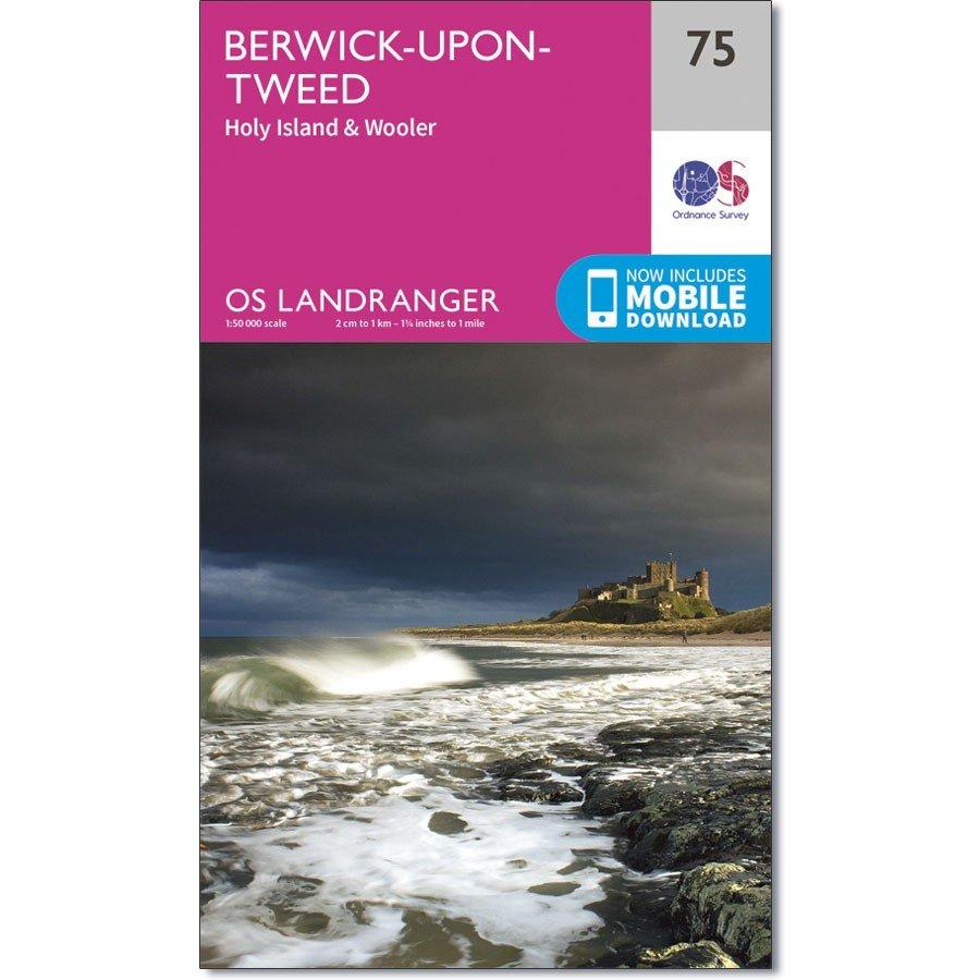 LR-075  Berwick upon Tweed   topografische wandelkaart 9780319261736  Ordnance Survey Landranger Maps 1:50.000  Wandelkaarten Northumberland, Yorkshire Dales & Moors, Peak District, Isle of Man