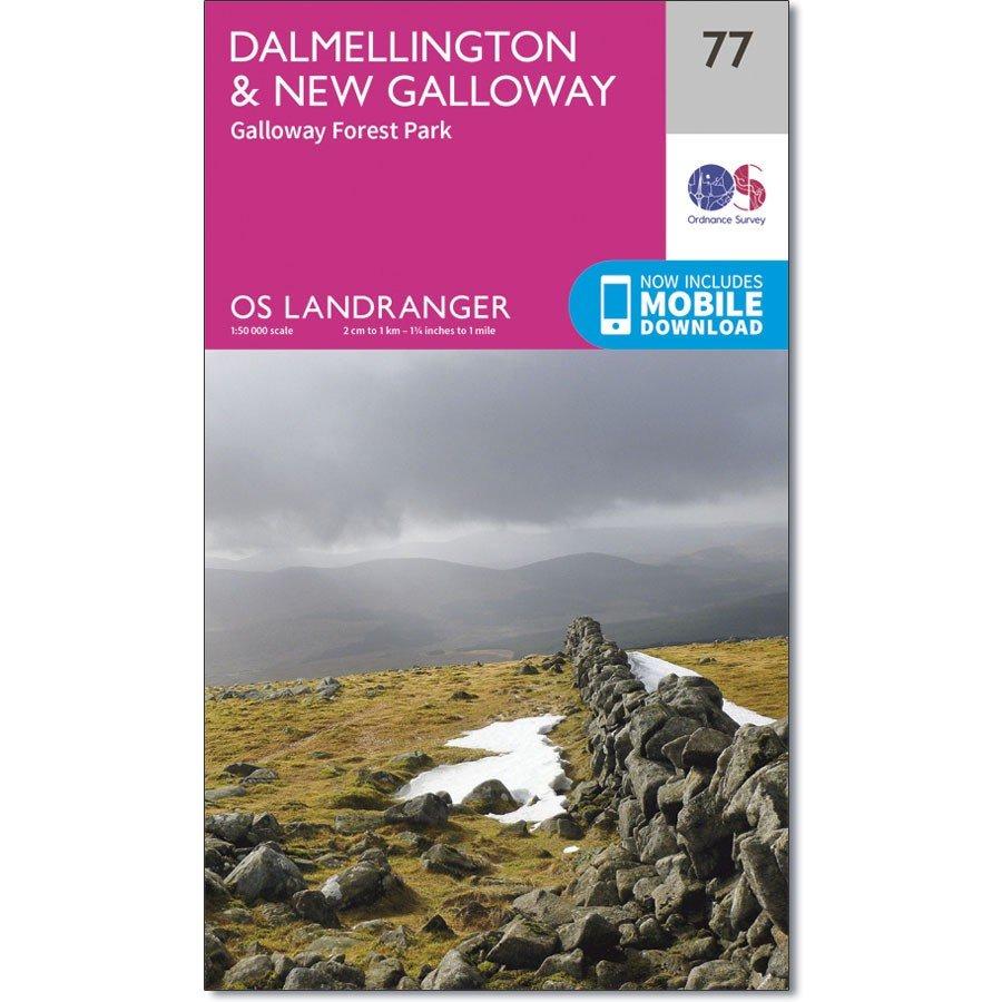 LR-077  Dalmellington to New Galloway | topografische wandelkaart 9780319261750  Ordnance Survey Landranger Maps 1:50.000  Wandelkaarten Schotland
