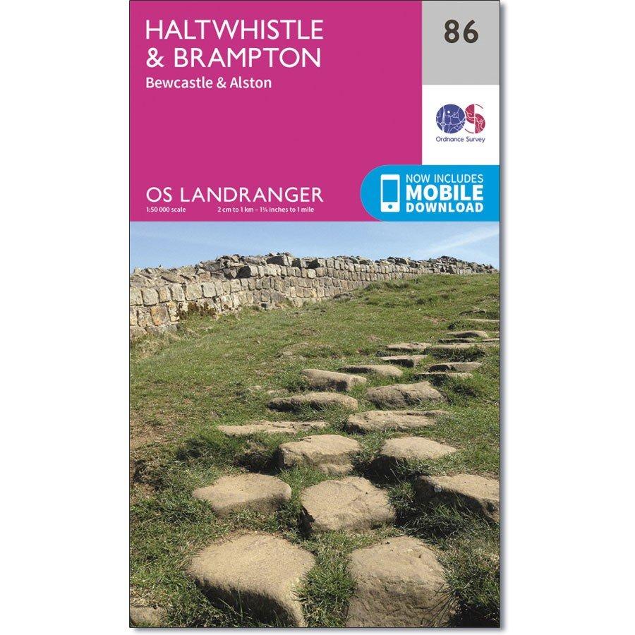 LR-086  Haltwhistle, Bewcastle + Alston | topografische wandelkaart 9780319261842  Ordnance Survey Landranger Maps 1:50.000  Wandelkaarten Noord-Engeland