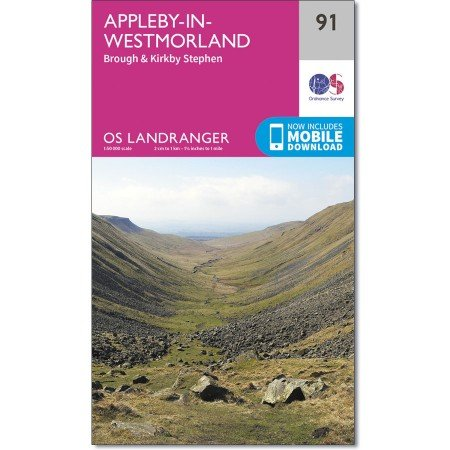 LR-091  Appleby-in-Westmoreland   topografische wandelkaart 9780319261897  Ordnance Survey Landranger Maps 1:50.000  Wandelkaarten Lake District