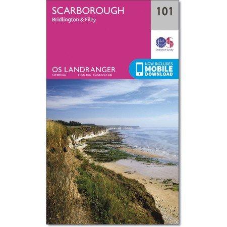 LR-101  Scarborough + Bridlington + Filey   topografische wandelkaart 9780319261996  Ordnance Survey Landranger Maps 1:50.000  Wandelkaarten Noord-Engeland