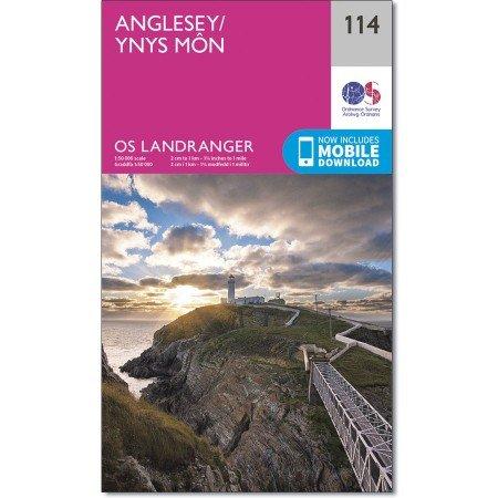 LR-114  Anglesey | topografische wandelkaart 9780319262122  Ordnance Survey Landranger Maps 1:50.000  Wandelkaarten Noord-Wales, Anglesey, Snowdonia