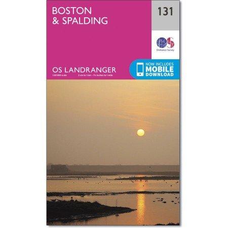 LR-131 Boston, Spalding | topografische wandelkaart 9780319262290  Ordnance Survey Landranger Maps 1:50.000  Wandelkaarten Midden- en Oost-Engeland