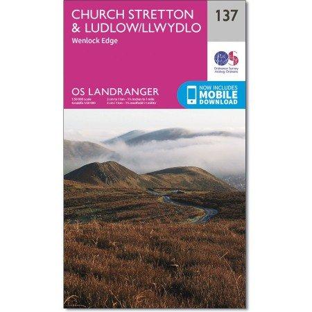 LR-137  Ludlow, Wenlock Edge   topografische wandelkaart 9780319262351  Ordnance Survey Landranger Maps 1:50.000  Wandelkaarten Midden- en Oost-Engeland