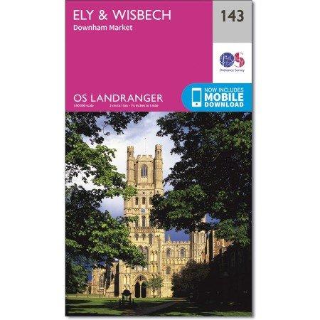 LR-143 Ely & Wisbech | topografische wandelkaart 9780319262412  Ordnance Survey Landranger Maps 1:50.000  Wandelkaarten Midden- en Oost-Engeland