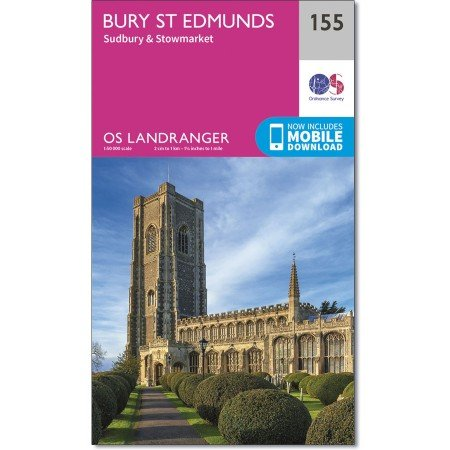LR-155  Bury St.Edmunds + Sudbury | topografische wandelkaart 9780319262535  Ordnance Survey Landranger Maps 1:50.000  Wandelkaarten Midden- en Oost-Engeland