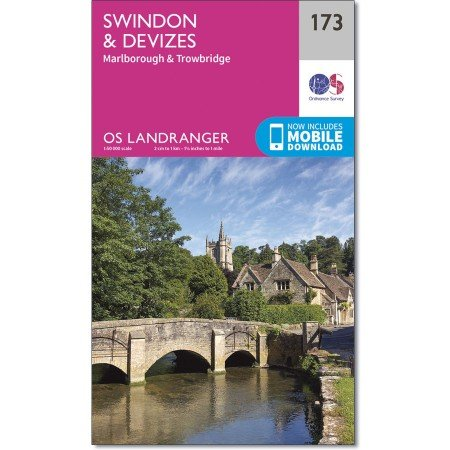 LR-173  Swindon, Devizes | topografische wandelkaart 9780319262719  Ordnance Survey Landranger Maps 1:50.000  Wandelkaarten Zuidwest-Engeland