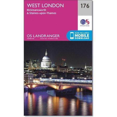 LR-176  West London | topografische wandelkaart 9780319262740  Ordnance Survey Landranger Maps 1:50.000  Stadsplattegronden Londen