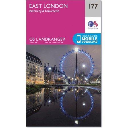 LR-177  East London | topografische wandelkaart 9780319262757  Ordnance Survey Landranger Maps 1:50.000  Stadsplattegronden Londen