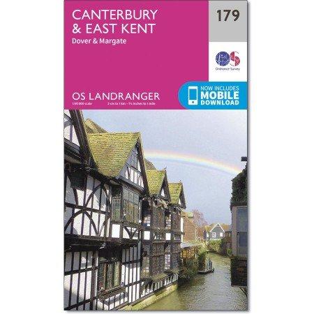 LR-179  Canterbury & East Kent | topografische wandelkaart 9780319262771  Ordnance Survey Landranger Maps 1:50.000  Wandelkaarten Zuidoost-Engeland