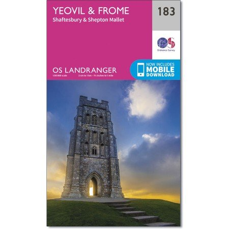 LR-183 Yeovil to Frome | topografische wandelkaart 9780319262818  Ordnance Survey Landranger Maps 1:50.000  Wandelkaarten Zuidwest-Engeland