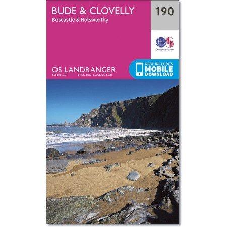 LR-190  Bude, Clovelly | topografische wandelkaart 9780319262887  Ordnance Survey Landranger Maps 1:50.000  Wandelkaarten Zuidwest-Engeland