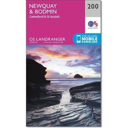 LR-200  Newquay, Bodmin | topografische wandelkaart 9780319262986  Ordnance Survey Landranger Maps 1:50.000  Wandelkaarten Zuidwest-Engeland