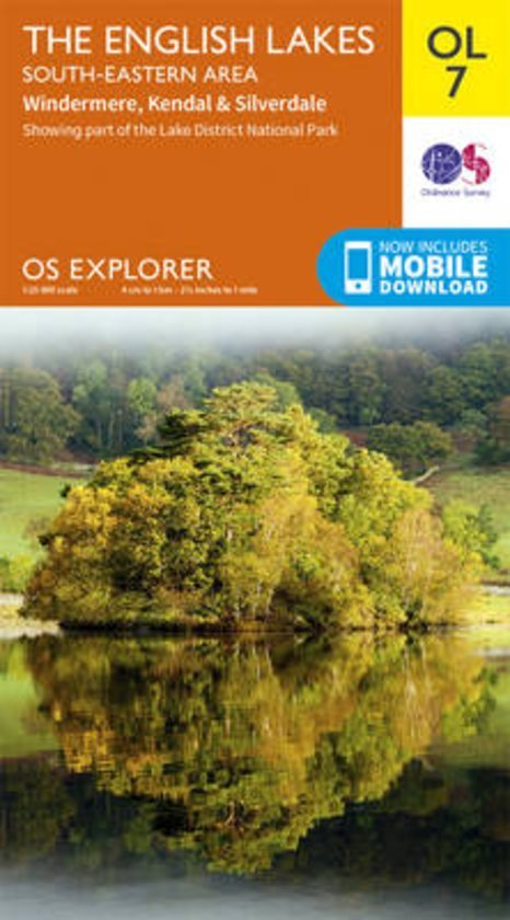EXP-007  English Lakes - South East  OL7 | wandelkaart 1:25.000 9780319263334  Ordnance Survey Explorer Maps 1:25t.  Wandelkaarten Noord-Engeland